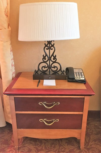 Nightstand $29. Lamp $24